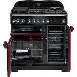 Rangemaster CDL90DFFCY Classic Deluxe 90cm Dual Fuel Range Cooker Cranberry-Appliance People