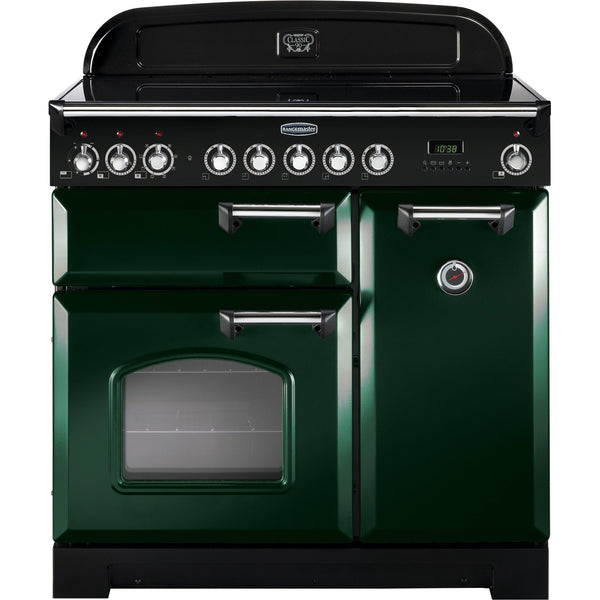Rangemaster CDL90ECRG Classic Deluxe 90cm Ceramic Range Cooker Green-Appliance People