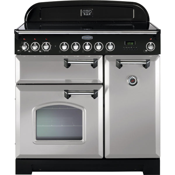 Rangemaster CDL90ECRP Classic Deluxe 90cm Ceramic Range Cooker Royal Pearl-Appliance People