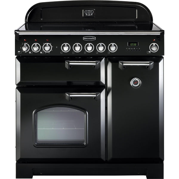 Rangemaster CDL90EIBL Classic Deluxe 90cm Induction Range Cooker Black-Appliance People