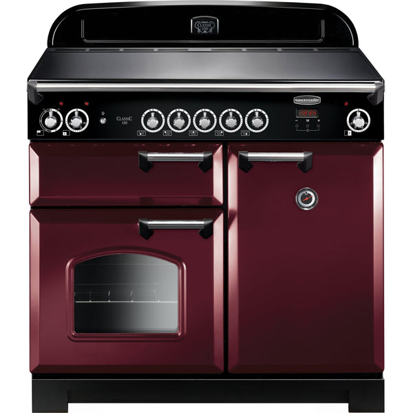Rangemaster CLA100EICY/C Classic 100cm Induction Range Cooker Cranberry-Appliance People