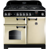 Rangemaster CLA100NGFCR/C Classic 100cm Gas Range Cooker Cream-Appliance People