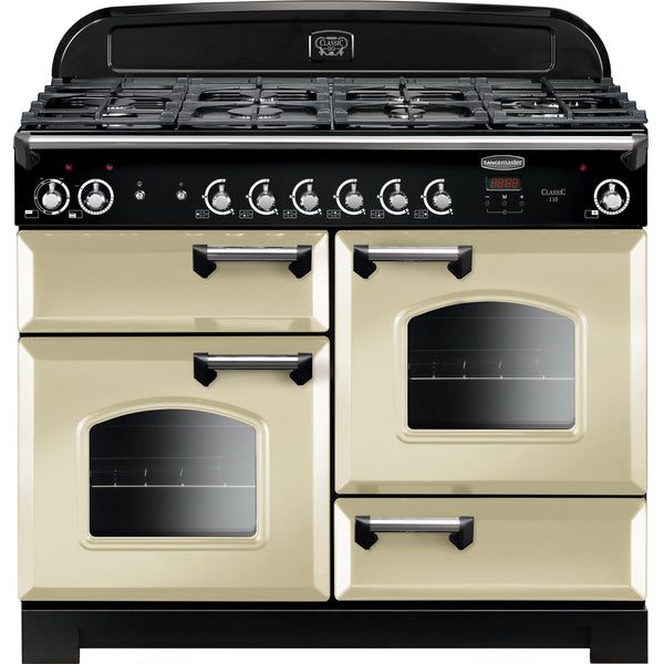Rangemaster CLA110DFFCR/C Classic 110cm Dual Fuel Range Cooker Cream-Appliance People