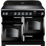 Rangemaster CLA110EIBL/C Classic 110cm Induction Range Cooker Black-Appliance People