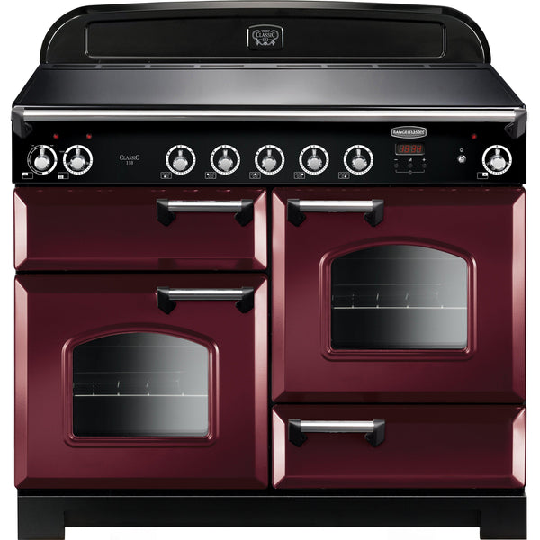 Rangemaster CLA110EICY/C Classic 110cm Induction Range Cooker Cranberry-Appliance People