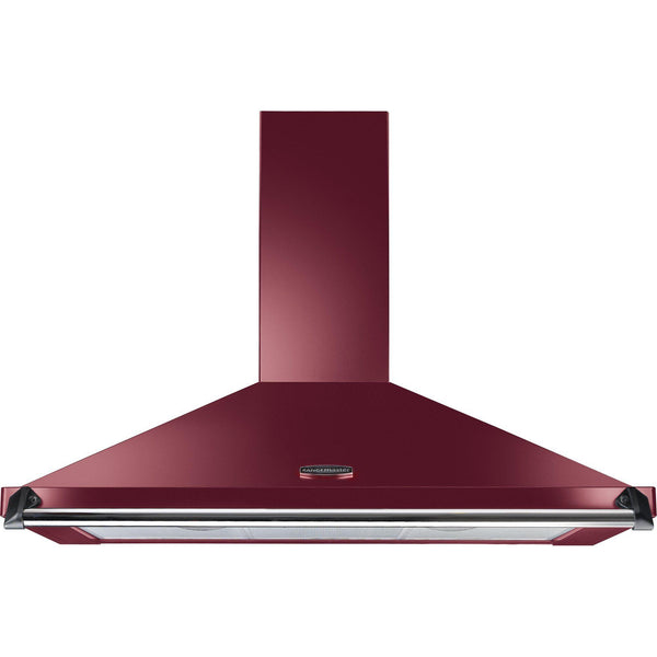 Rangemaster CLAHDC90CY/C Classic 90cm Chimney Hood Cranberry/Chrome-Appliance People