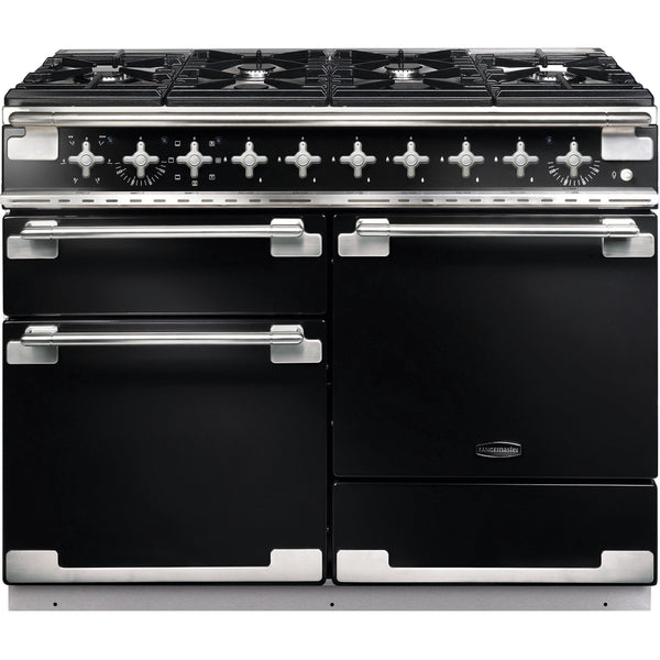 Rangemaster ELS110DFFGB/ Elise 110cm Dual Fuel Range Cooker Black-Appliance People
