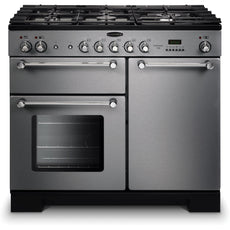 Rangemaster KCH100DFFSS/C Kitchener 100cm Dual Fuel Range Cooker Stainless Steel-Appliance People