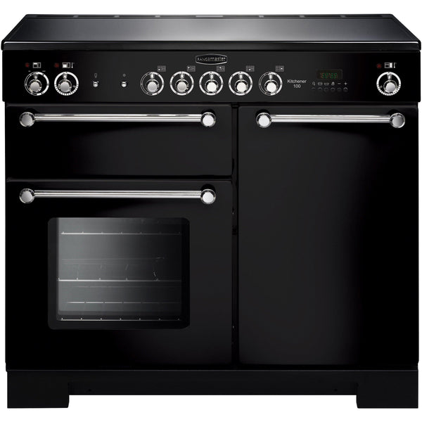 Rangemaster KCH100ECBL/C Kitchener 100cm Ceramic Range Cooker Black-Appliance People