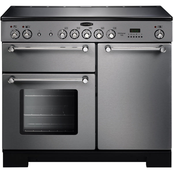 Rangemaster KCH100ECSS/C Kitchener 100cm Ceramic Range Cooker Stainless Steel-Appliance People