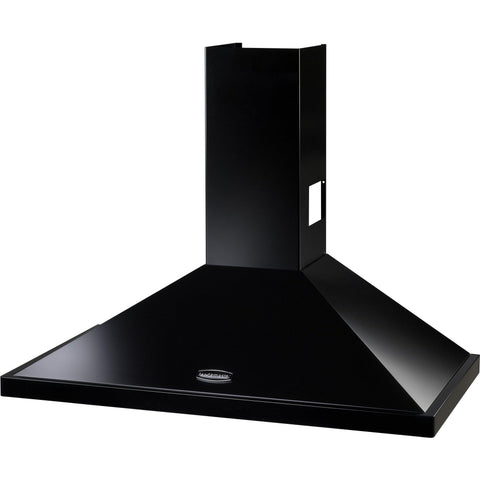 Rangemaster LEIHDC90BC/ 90cm Chimney Hood Black/Chrome-Appliance People