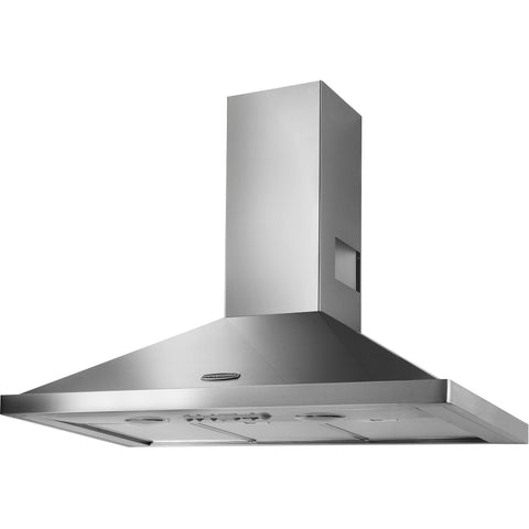 Rangemaster LEIHDC90SC/ 90cm Chimney Hood Stainless/Chrome-Appliance People