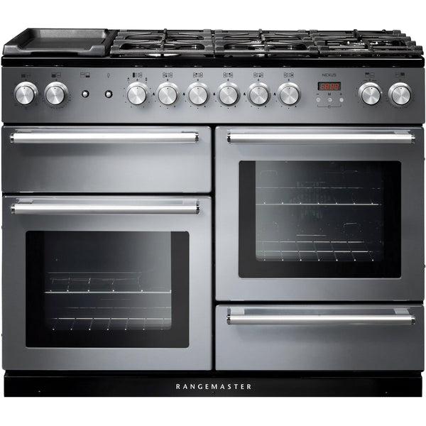 Rangemaster NEX110DFFSS/C Nexus 110cm Dual Fuel Range Cooker Stainless Steel-Appliance People