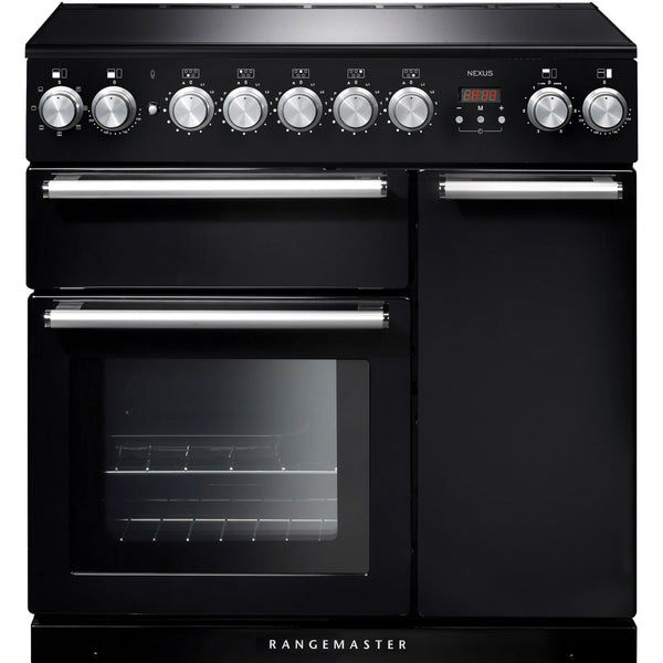 Rangemaster NEX90EIBL/C Nexus 90cm Induction Range Cooker Black-Appliance People