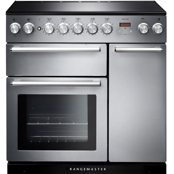 Rangemaster NEX90EISS/C Nexus 90cm Induction Range Cooker Stainless Steel-Appliance People