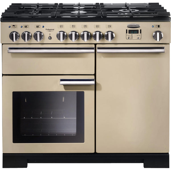 Rangemaster PDL100DFFCR/C Professional Deluxe 100cm Dual Fuel Range Cooker Cream-Appliance People
