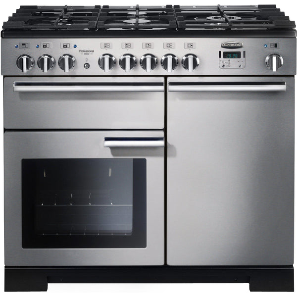 Rangemaster PDL100DFFSS/C Professional Deluxe 100cm Dual Fuel Range Cooker Stainless Steel-Appliance People