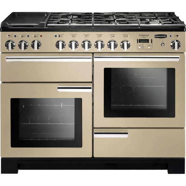 Rangemaster PDL110DFFCR/C Professional Deluxe 110cm Dual Fuel Range Cooker Cream 97530-Appliance People