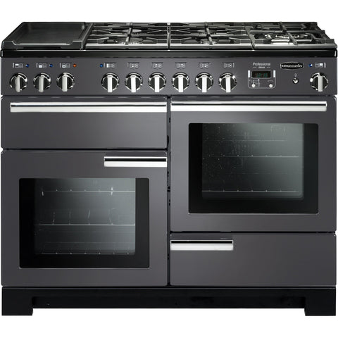 Rangemaster PDL110DFFSL/C Professional Deluxe 110cm Dual Fuel Range Cooker Slate 105890-Appliance People