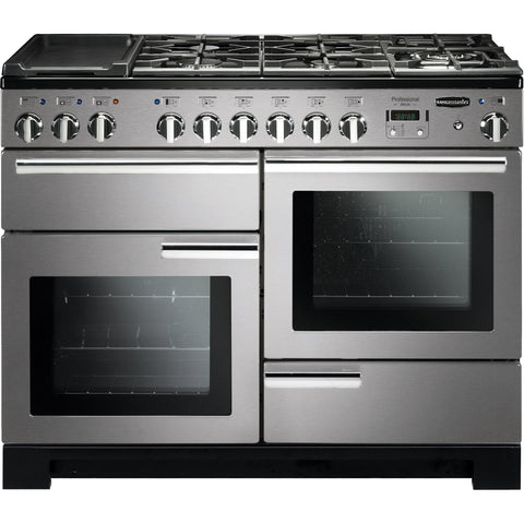 Rangemaster PDL110DFFSS/C Professional Deluxe 110cm Dual Fuel Range Cooker Stainless Steel 97510-Appliance People