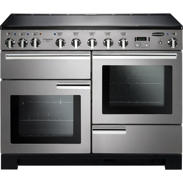 Rangemaster PDL110EISS/C Professional Deluxe 110cm Induction Range Cooker Stainless Steel-Appliance People