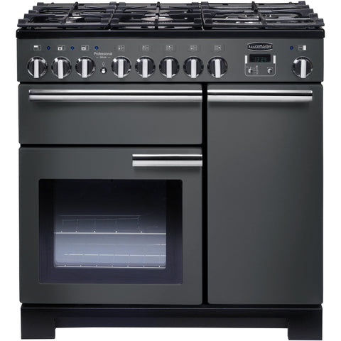 Rangemaster PDL90DFFSL/C Professional Deluxe 90cm Dual Fuel Range Cooker Slate-Appliance People