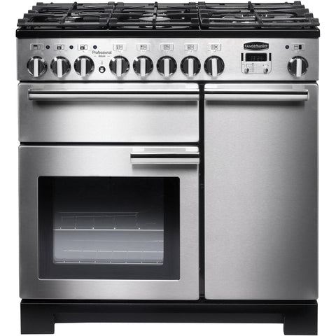 Rangemaster PDL90DFFSS/C Professional Deluxe 90cm Dual Fuel Range Cooker Stainless Steel-Appliance People
