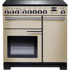 Rangemaster PDL90EICR/C Professional Deluxe 90cm Induction Range Cooker Cream-Appliance People