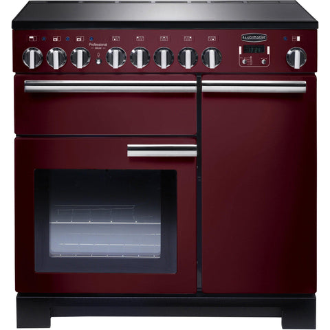 Rangemaster PDL90EICY/C Professional Deluxe 90cm Induction Range Cooker Cranberry-Appliance People