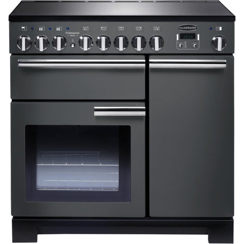 Rangemaster PDL90EISL/C Professional Deluxe 90cm Induction Range Cooker Slate-Appliance People