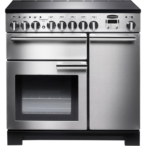 Rangemaster PDL90EISS/C Professional Deluxe 90cm Induction Range Cooker Stainless Steel-Appliance People