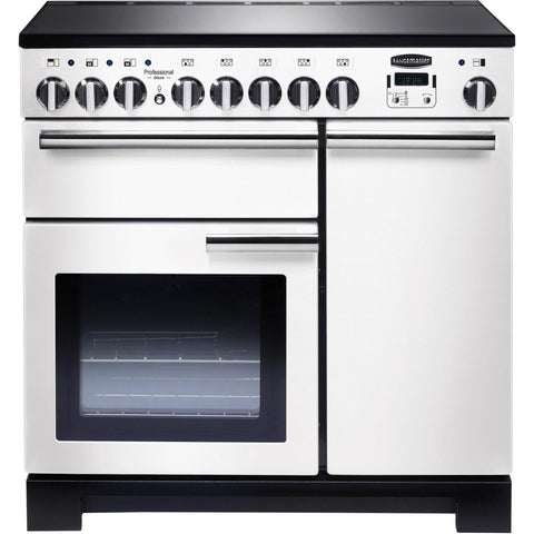 Rangemaster PDL90EIWH/C Professional Deluxe 90cm Induction Range Cooker White-Appliance People