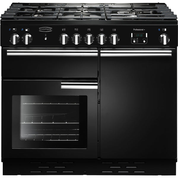 Rangemaster PROP100NGFGB/C PROFESSIONAL PLUS 100cm Gas Range Cooker Black-Appliance People