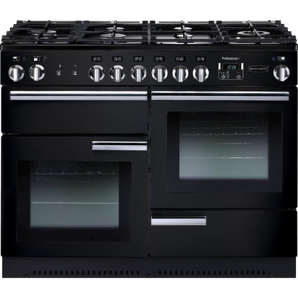 Rangemaster PROP110DFFGB/C Professional Plus 110cm Dual Fuel Range Cooker Black 91680-Appliance People
