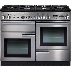 Rangemaster PROP110DFFSS/C Professional Plus 110cm Dual Fuel Range Cooker Stainless Steel 84320-Appliance People