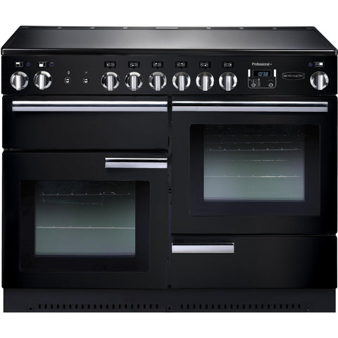Rangemaster PROP110ECGB/C Professional Plus 110cm Ceramic Range Cooker Black-Appliance People