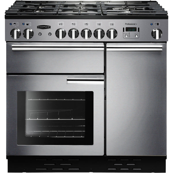 Rangemaster PROP90DFFSS/C PROFESSIONAL PLUS 90cm Dual Fuel Range Cooker Stainless Steel-Appliance People