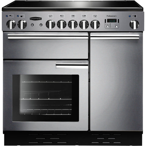 Rangemaster PROP90EISS/C PROFESSIONAL PLUS 90cm Induction Range Cooker Stainless Steel-Appliance People