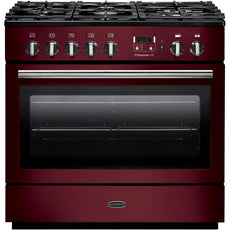 Rangemaster PROP90FXDFFCY/C PROFESSIONAL PLUS FX 90cm Dual Fuel Range Cooker Cranberry-Appliance People