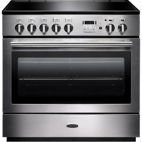 Rangemaster PROP90FXEISS/C PROFESSIONAL PLUS FX 90cm Induction Range Cooker Stainless Steel-Appliance People