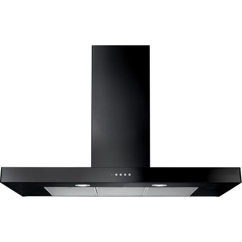 Rangemaster UNBHDS110BL/ Flat 110cm Chimney Hood Black-Appliance People