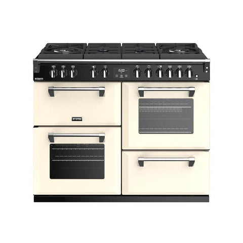 Stoves RICHMOND DELUXE S1100DF GTG 110CM GAS ON GLASS DUAL FUEL IN CREAM-Appliance People