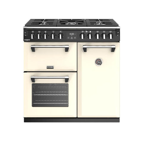 Stoves Richmond Deluxe S900DF Classic 90cm Dual Fuel Range Cooker in Cream * * one only to clear at this price * *