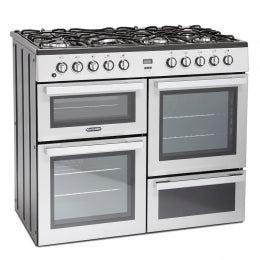 Montpellier MDF100S 100CM DUAL FUEL RANGE COOKER - Silver * * ONLY 3 LEFT AT THIS PRICE * *