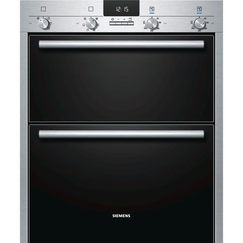 Siemens HB43NB520B 60cm Built-under Double Oven Stainless Steel-Appliance People