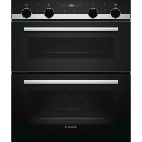 Siemens iQ500 NB535ABS0B Built-under Double Oven Black-Appliance People