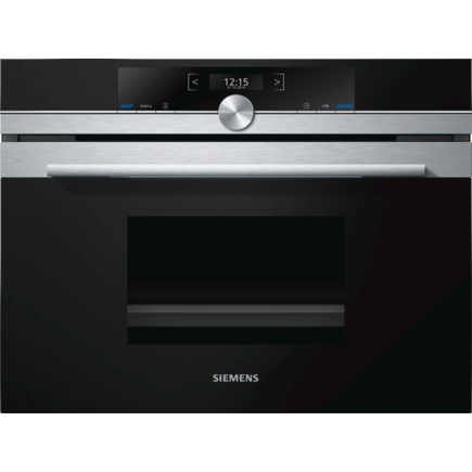 Siemens iQ700 CD634GBS1B Built-in Steam Oven Black-Appliance People