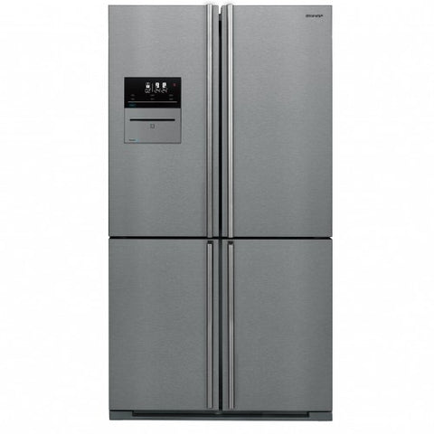 Sharp SJ-F1560EVI VacPac Pro Four Door Fridge/freezer - Stainless Steel/Dark Inox