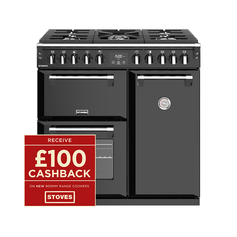 Stoves RICHMOND S900DF 90CM DUAL FUEL IN BLACK-Appliance People