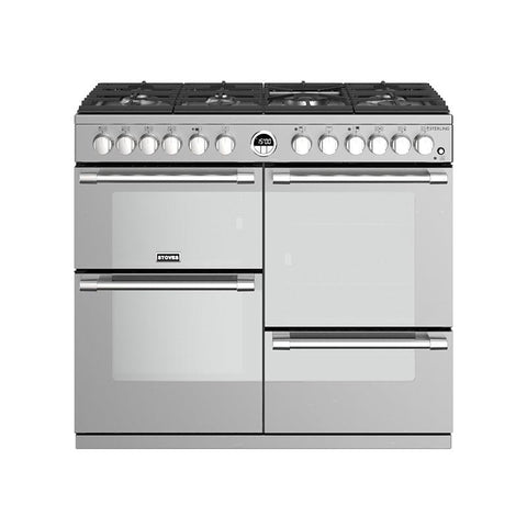 Stoves STERLING S1000DF 100CM DUAL FUEL IN STEEL-Appliance People